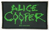 Alice Cooper - 'Green Logo' Woven Patch